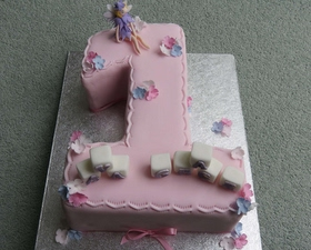 Fairy theme number one cake