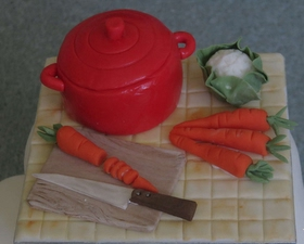 Casserole cake topper for cook enthusiast