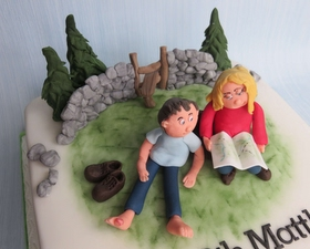 Countryside walkers cake