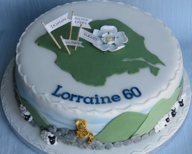 Yorkshire lover's cake