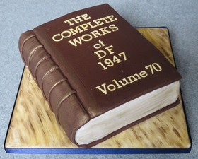 3D book cake for reader or author