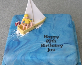 Sailing cake. 3D Yacht topper.