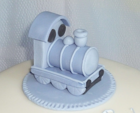 Little Blue Engine Cake topper